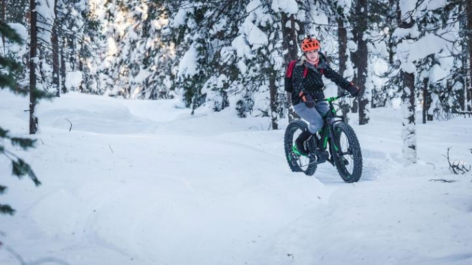 Scenic electric fatbike for beginners for Roll Outdoors Oy