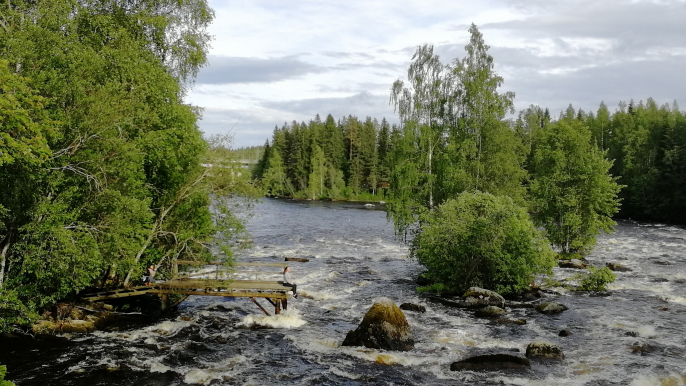 RAFTING IN KUUSAANKOSKI RIVER for Varjola Resort & Activities