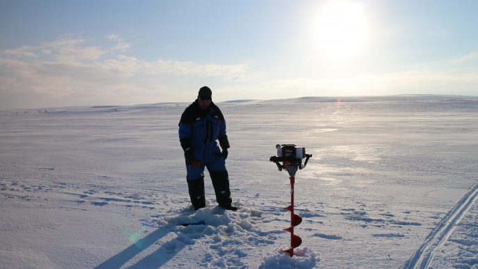 Full Day Snowmobile Driving with Ice Fishing for Lapland Welcome Ltd