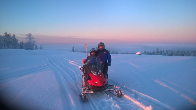 Snowmobile Safari to a Husky Farm with Husky Safari for Lapland Welcome Ltd
