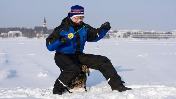 Snowshoe Trip for Ice Fishing in Ivalo for Lapland Welcome Ltd