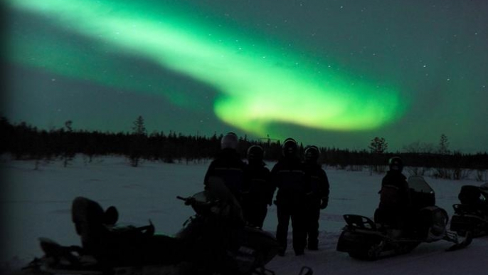 Hunting Northern Lights by Snowmobiles for Lapland Welcome Ltd